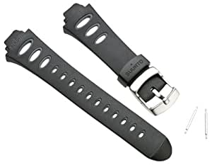 Suunto Wrist-Top Computer Watch Replacement Strap Kit (Observer SR, X6HRM, and G3; Black Elastomer)