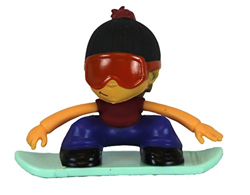 Grommets Chuck Hucks Figure on SnowBoard (Red and Blue Varient)
