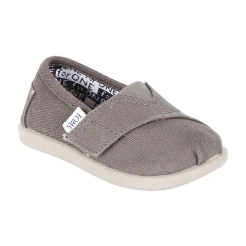 Toms Tiny Classic Canvas Slip-On, Ash 6 front-857226