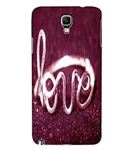 ColourCraft Love Ring Design Back Case Cover for SAMSUNG GALAXY NOTE 3 NEO DUOS N7502