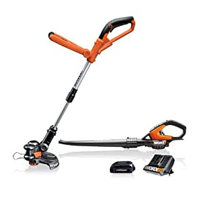 WORX WG912.51 2-Piece 18 Volt Lithium-Ion Cordless Combo Kit With Blower & String Trimmer (Discontinued by Manufacturer)