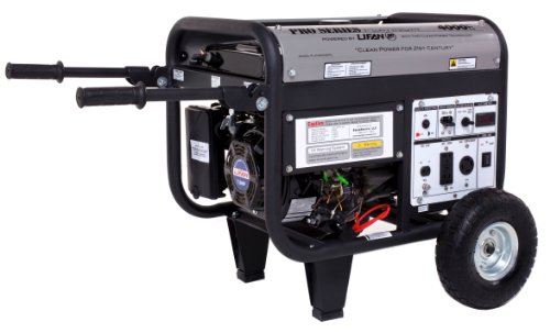Lifan Platinum Series Lf4000Epl-Ca 4000 Watt Commerical/Contractor/Rental Grade 7 Hp 211Cc Ohv Gas Powered Portable Generator With Electric Start And Wheel Kit (Carb Certified)