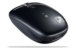Logitech Bluetooth Mouse M555b Souris sans-fil Bluetooth Défilement ultra-rapide Suivi laser Noir