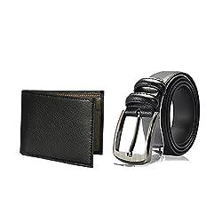 Random 17C Mens Belt and Wallet Combo (Black)(9C5WLBT)
