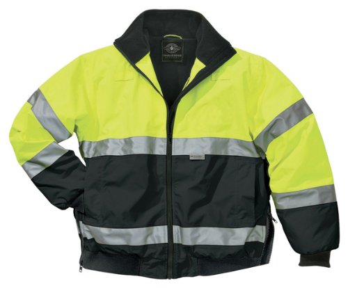 Charles River Apparel Men'S Waterproof Work Wear Jacket, Lime Green/Black, 3Xl