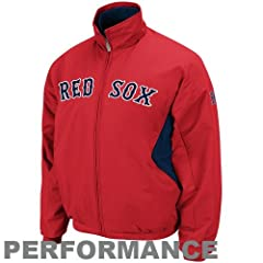 2013 Boston Red Sox MLB Baseball Majestic Red Therma Base Dugout Coat Jacket ~ Adult... by Majestic Athletic