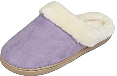 luxehome women 39 s cozy fleece house slippers shoes