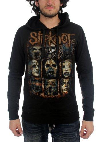 SLIPKNOT-Sulpher da uomo Pullover felpa con cappuccio in nero Black Small