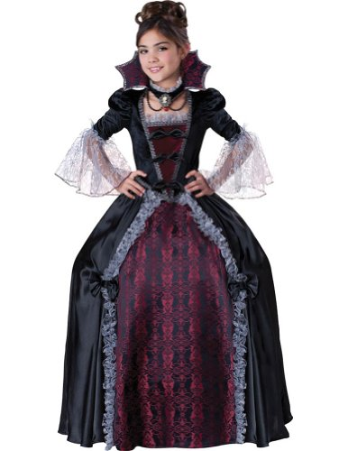 girls - Vampiress Of Versailles Kids Costume 8 Halloween Costume