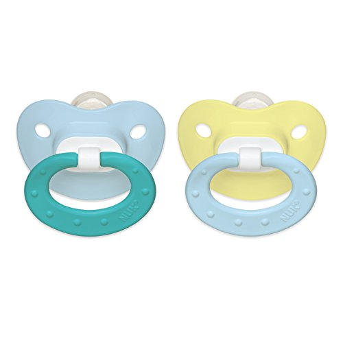 NUK Juicy Puller Silicone Pacifier in Assorted Colors, 0-6 Months - 1