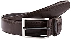 Fashionable Faux Leather Brown 36 Formal Belt For Men By Pacific Gold