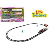 Little Treasures Sleek Steam Locomotive Train Set With Tracks For Boys And Girls Great Gift For Your Little Conductor