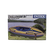 New Intex One Person Challenger K1 Inflatable Kayak Kit with Paddle & Pump l 68305EP