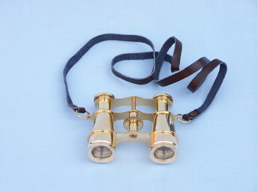 "Solid Brass Binoculars 4"" - Brass Binocular - Decorative Nautical Binocular - Nautical Decoration - Brand New"