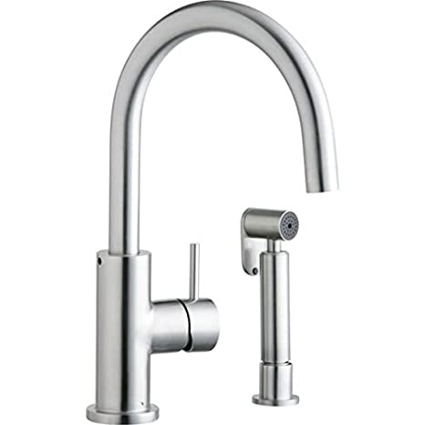 Elkay LK7922SSS Allure Stainless Kitchen Faucet, Satin Stainless Steel