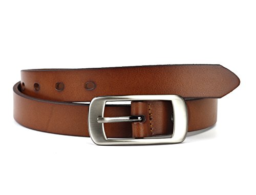 Geremen 25mm Women's Cowhide Leather Belts for Women Y07 (Freesize, Brown) (Belt Women Leather compare prices)