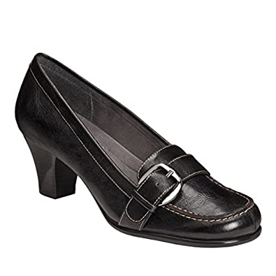 A2 by Aerosoles Womens Barista Loafer Pumps 5.5 M Black