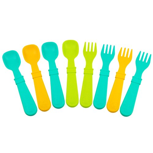 Re-Play 8 Count Utensils, Aqua, Green, Orange front-966263