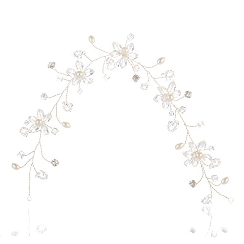 Remedios Bridal Crystal Hair Flowers Headband Wedding Tiara Hairpiece