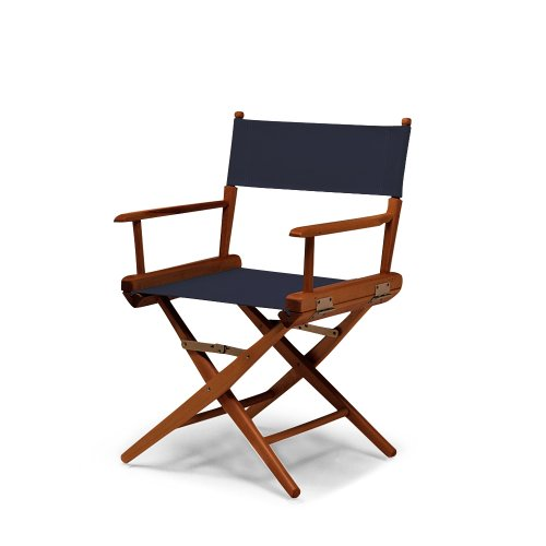 Telescope Casual World Famous Dining Height Director Chair, Navy with Walnut Frame