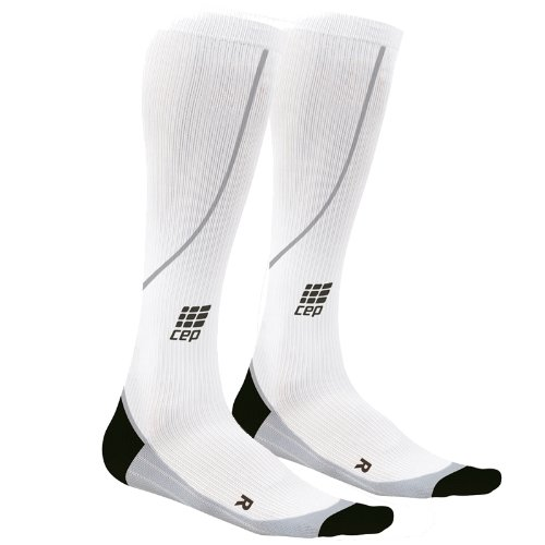 CEP Women's Running Progressive Compression Socks (White - IV (15.25-17 inch calf))