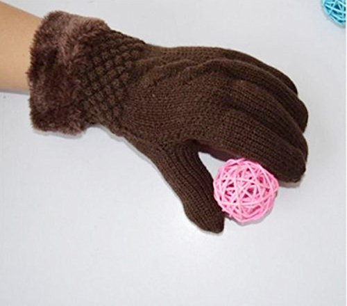 1-Pcs (1 Pair) Consummate Chic Hots Women's Mittens Warm Gloves Ski Hand Cover Outdoor Windproof Driving Gifts Colors Coffee (Deerskin Chopper Mittens compare prices)