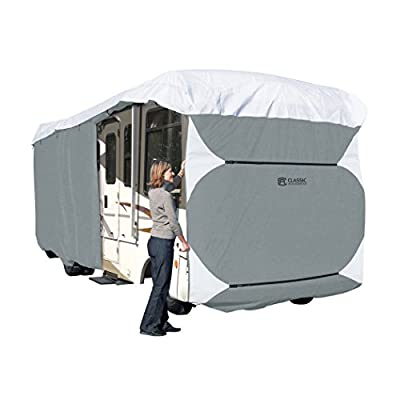 Classic Accessories 77663 Polypro III Grey Deluxe Class A Extra Tall RV Cover, Fits 33-Feet - 37-Feet RVs (Grey)