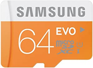 Samsung MB-MP64D/EU Scheda Micro SD HC EVO, UHS-1, Classe 10, 64GB, Bianco/Arancio