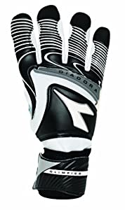 Diadora Olimpico Goal Keeper Gloves (9, Black/White)