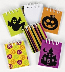 24 MINI Iconic HALLOWEEN Spiral NOTEPADS/TRICK or TREAT Toys/PARTY FAVORS - 1