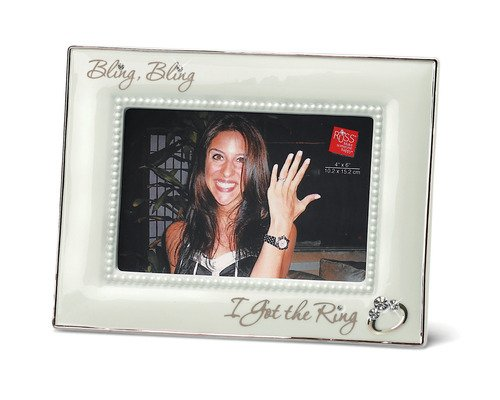 russ bling bling i got the ring porcelain photo frame 4 by 6 - Engagement Picture Frames
