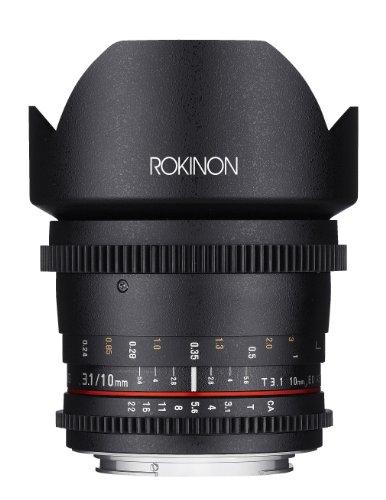 Rokinon Cine Cv10M-C 10Mm T3.1 Cine Wide Angle Lens For Canon Ef Cameras