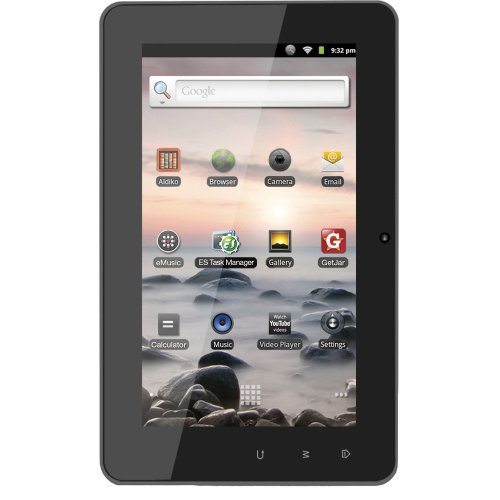 Coby Kyros 7-Inch Android 2.3 4 GB Internet Tablet with Capacitive Touchscreen - MID7127-4G (Black)