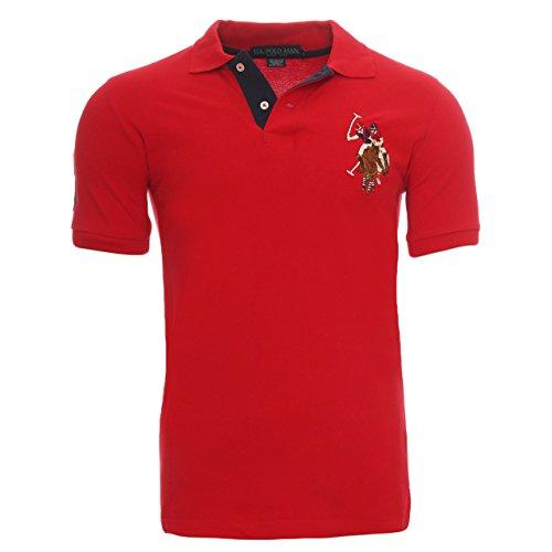 da-uomo-us-polo-assn-big-pony-polo-contrasto-manica-corta-red-xx-large