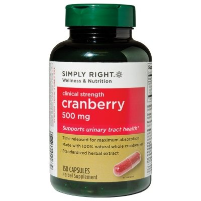 41UrvF0DYmL Simply Right Cranberry   500mg   150 ct.