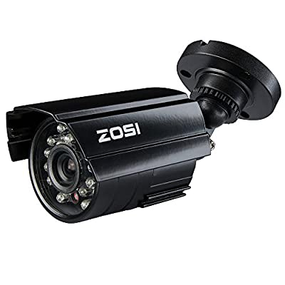 "ZOSI 4Pack 1/3"" 800TVL 4.6mm IR Cut Color Surveillance Home Security Bullet Camera Outdoor Day Night Vision CCTV System Kits"