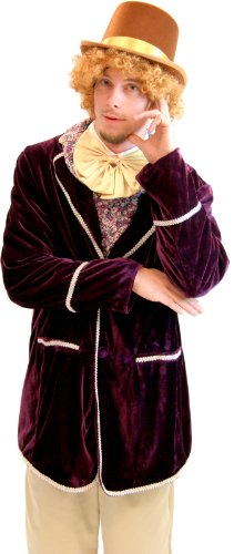 Willy Wonka and The Chocolate Factory Adult Condescending Candy Suit Costume