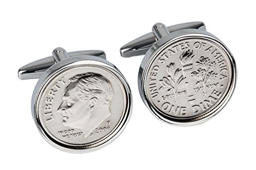 10th Wedding Anniversary-10 Year- Tin Gift for Men-2006 Mint Coin Cufflinks-100% Satisfaction Warranty