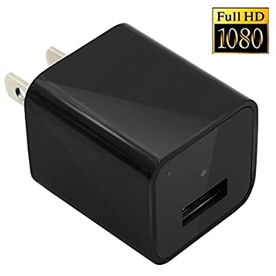 U-shop 1080P HD USB Wall Charger Hidden Spy Camera / Nanny Spy Camera Adapter With 8gb memory