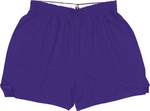 Hot Badger Sport Ladies Cheerleader Shorts - 7202 - Purple - X-Large