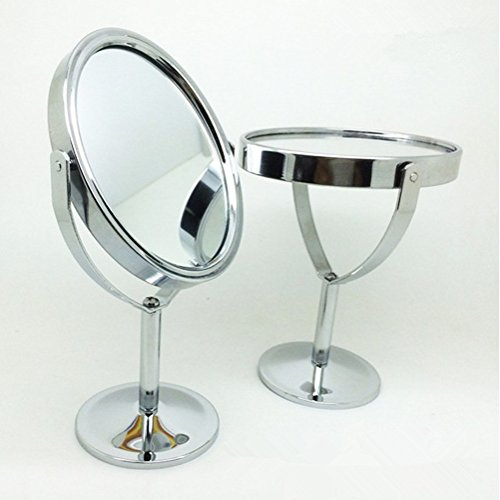 Generic Makeup Cosmetic Mirror & Double-Sided Normal And Magnifying Stand Mirror (1) front-230351