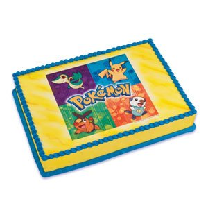 Amazoncom Pokemon Edible Cake Topper Image 1 Image Kitchen