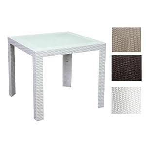 Tavoli tavolo quadrato da esterno interno in simil rattan for Tavolo esterno 80x80
