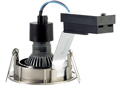 LED-Einbaustrahler-Set rund Nickel gebürstet, 1x 4.5W KIT-LED-PRO-R-BR-NI-4,5W