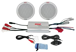 Pyle PLMRKT2A 2-Channel Waterproof MP3 iPod Amplified 6.5-Inch Marine Speaker System by Pyle