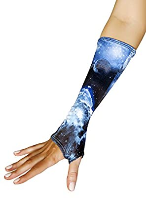 J. Valentine Women's Galaxy Fingerless Gloves