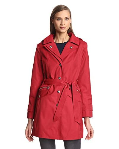 London Fog Women's Single-Breasted Double Collar Coat