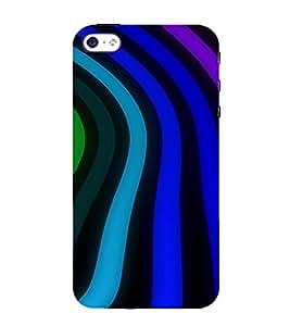 PrintVisa Wave Stripes Pattern 3D Hard Polycarbonate Designer Back Case Cover for Apple iPhone 5 :: 5S
