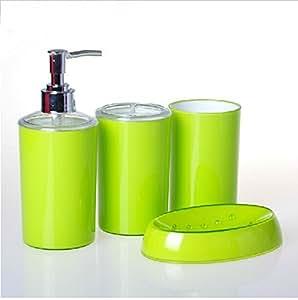 bathroom accessory sets color apple