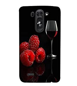 Fuson Premium Wine Printed Hard Plastic Back Case Cover for LG G3 Beat
